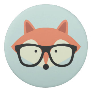 Cute Hipster Red Fox Eraser