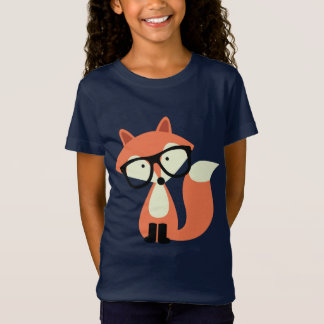Cute Hipster Red Fox T-Shirt