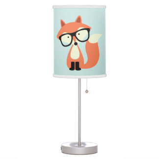 Cute Hipster Red Fox Table Lamp
