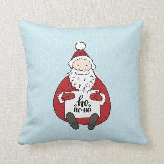 Cute ho ho ho Santa drawing Christmas Throw Pillow
