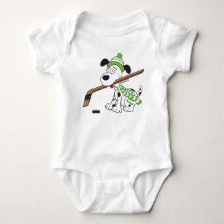 Cute Hockey Dog Infant Bodysuit
