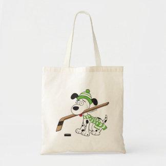Cute Hockey Dog Kids Youth Tote Bag