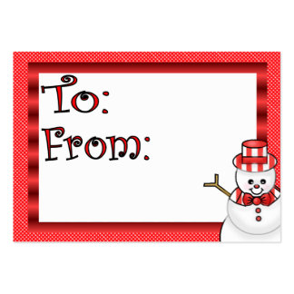 Cute Holiday Gift Tag Large Business Card