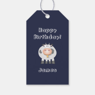Cute Holy Cow Funny Happy Birthday Party Pack Of Gift Tags