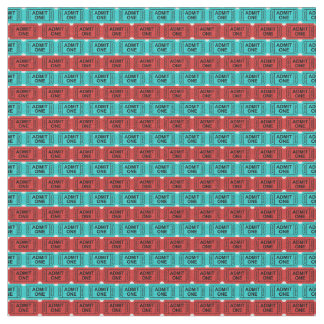 Cute home theater room ticket pattern material fabric