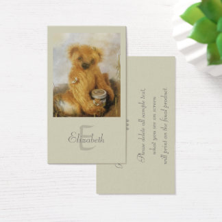 Cute Honey Bear Teddy Personalized Business Card