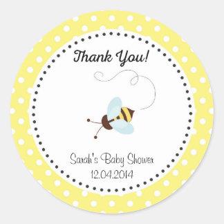 Cute Honey Bee Baby Shower Sticker