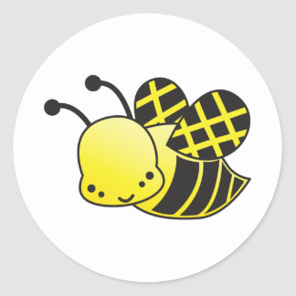 cute honey bee round sticker