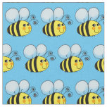 cute honey bumble bee pattern fabric