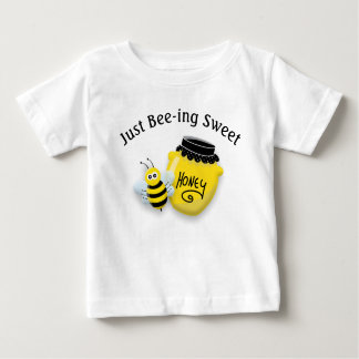 Cute Honeybee and Pot of Honey Being Sweet Baby T-Shirt