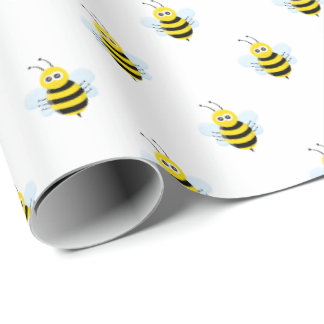 Cute Honeybees | Any Background Color Wrapping Paper