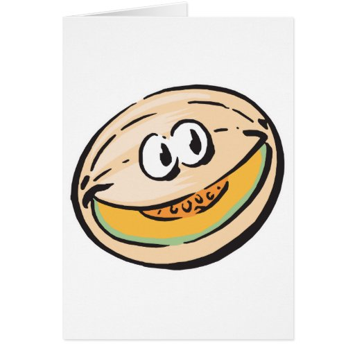 cute honeydew melon card