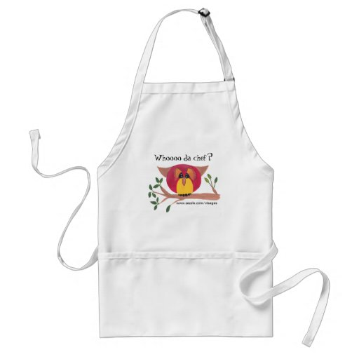 Cute Horned Owl Painting Apron