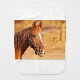 CUTE HORSE BABY BURP CLOTHS