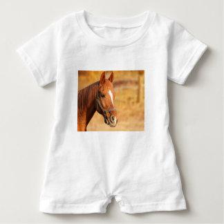 CUTE HORSE BABY ROMPER