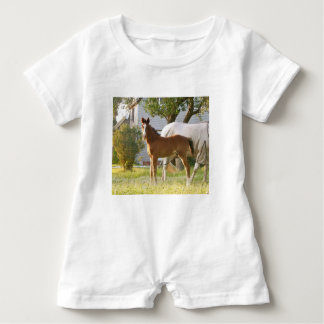 CUTE HORSE FOAL AND MARE BABY ROMPER