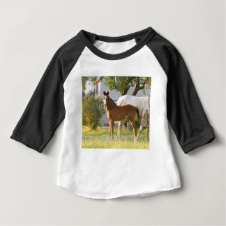 CUTE HORSE FOAL AND MARE BABY T-Shirt