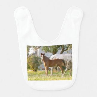 CUTE HORSE FOAL AND MARE BIB