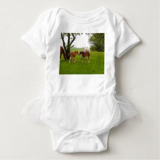 CUTE HORSE FOALS BABY BODYSUIT