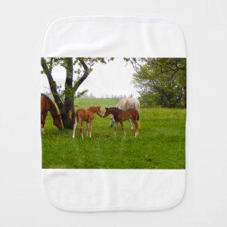 CUTE HORSE FOALS BABY BURP CLOTHS