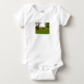 CUTE HORSE FOALS BABY ONESIE