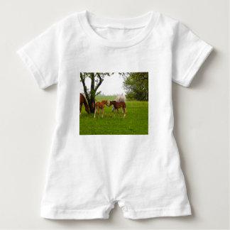 CUTE HORSE FOALS BABY ROMPER