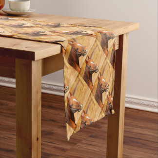 CUTE HORSE SHORT TABLE RUNNER