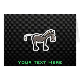 Cute Horse; Sleek Greeting Card