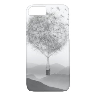 Cute Hot Air Balloon Dandelion Seeds Blowing iPhone 8/7 Case