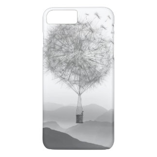 Cute Hot Air Balloon Dandelion Seeds Blowing iPhone 8 Plus/7 Plus Case