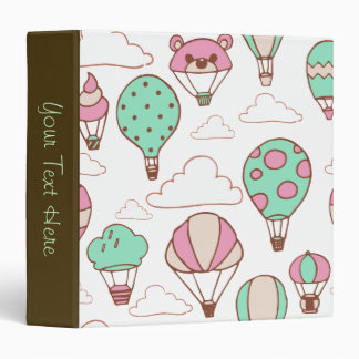Cute Hot Air Balloons Pattern Binder
