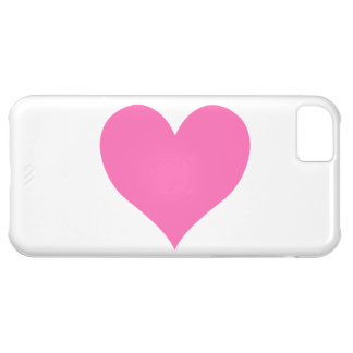 Cute Hot Pink Heart Case For iPhone 5C