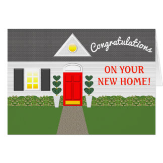 Cute House Facade Housewarming Card