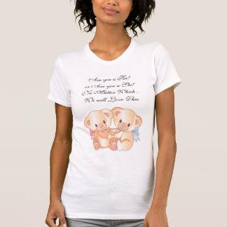 Cute Hugging Girl and Boy Bears Expecting T-Shirt