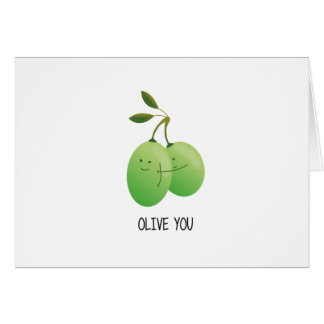 Cute Hugs & Love Card - Olive you!