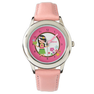 Cute Hula Girl Hawaiian Luau Themed Watch