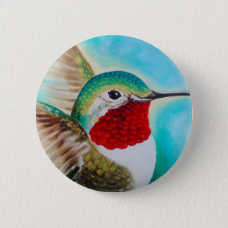 Cute Hummingbird 2 Inch Round Button