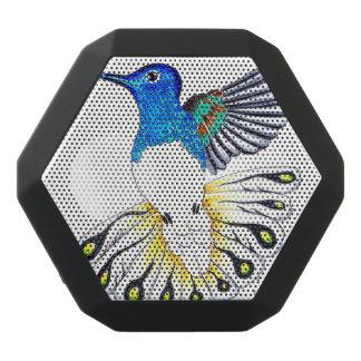 Cute Hummingbird Art Black Bluetooth Speaker