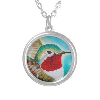 Cute Hummingbird Silver Plated Necklace