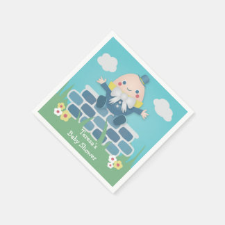 Cute Humpty Dumpty Baby Shower Paper Napkins