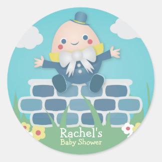 Cute Humpty Dumpty Baby Shower Stickers