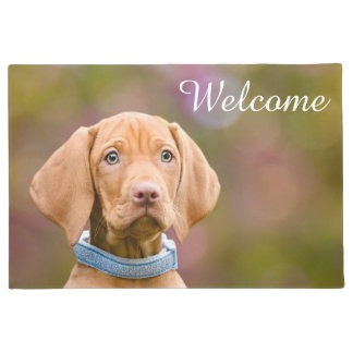Cute Hungarian Vizsla Dog Puppy Photo /  Welcome Doormat