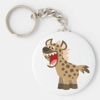 Cute Hungry Cartoon Hyena Keychain