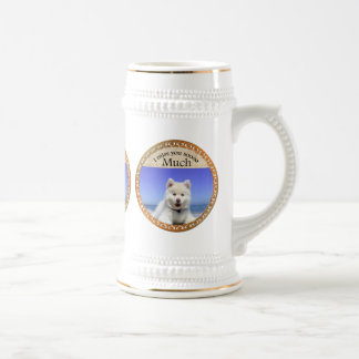 Cute Husky's with blue eye`s Beer Stein