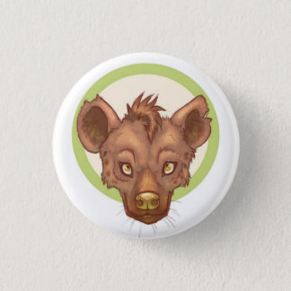 Cute Hyena Face 1 Inch Round Button