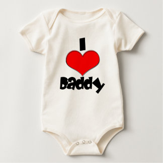 Cute I Heart Love Daddy Baby Bodysuit