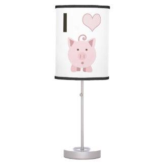 Cute I heart pigs Desgin Table Lamp