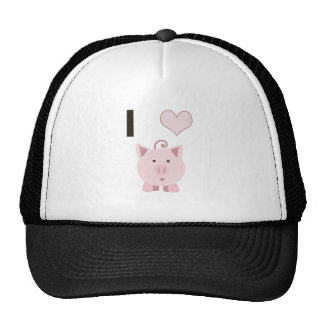 Cute I heart pigs Desgin Trucker Hat