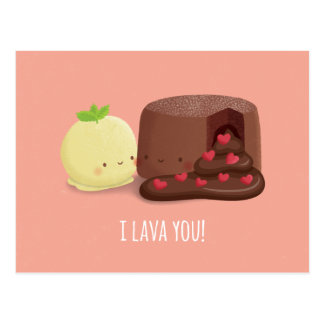 Cute I Lava You Valentines Day Greeting Postcard