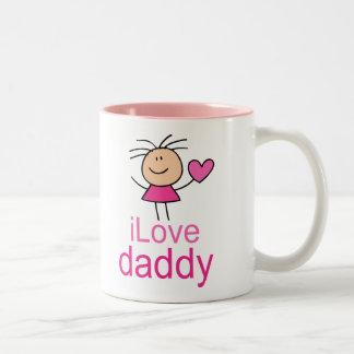 Cute I Love Daddy T-shirt Two-Tone Mug